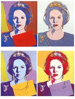 reigning queens: queen beatrix of the netherlands [ii.338-341] by andy warhol